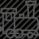 locomotive, old, railroad, railway, railways, train, transport icon