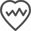 cardio, healthcare, healthy, heart, heartbeat, medical, shape icon