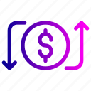 activity, bank, money, payment, receive, send, transaction icon