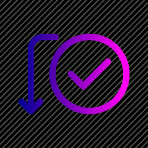 activity, approve, payment, send, success, transaction, verify icon