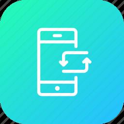 activity, bank, data, mobile, synchronize, transaction, transfer icon