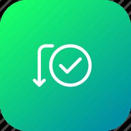 activity, approve, bank, send, success, transaction, verify icon