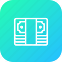 bank, bundle, cash, money, note, transaction, transfer icon