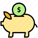 bank, business, currency, finance, money, piggy, save