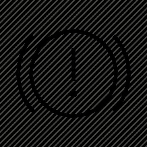 alarm, car, problem, transport, warning icon