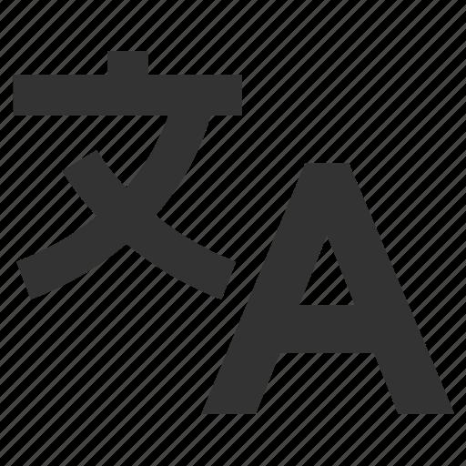 alphabet, international, language, translate, translating, translation icon