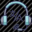 interpret, interpreter, service, translate icon