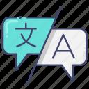 interpretation, language, translate icon
