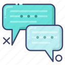 dialogue, language, translate icon