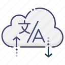 cloud, service, support, translate icon
