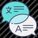 communication, foreign, language, translate icon