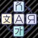 foreign, international, language, translate icon