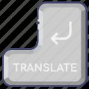 keyboard, translate, translation icon