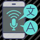 interpret, mobile, translate icon