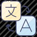 language, translate, translating icon