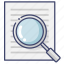 document, search, translation icon