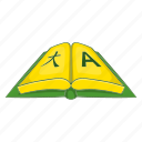 book, business, cartoon, dictionary, language, sign, translation icon