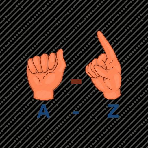 Alphabet, cartoon, design, graphic, hand, language, sign icon - Download on Iconfinder