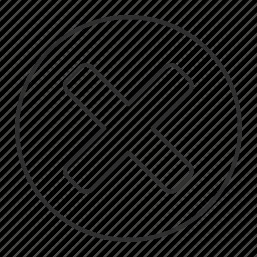 close, escape, exit, grey, round, transparent icon