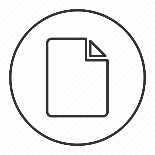 doc, file, grey, page, round, transparent icon