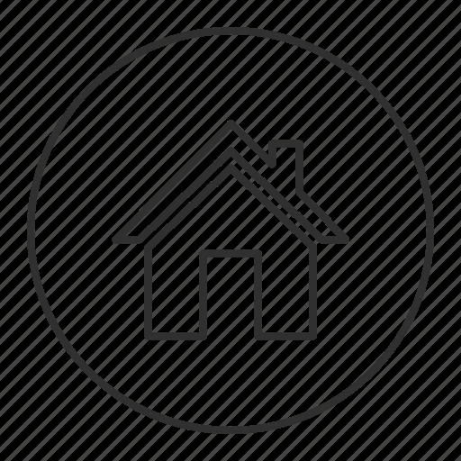 Grey, home, house, main, round, transparent icon | Icon ...
