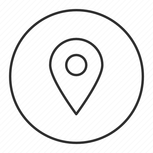 grey, here, location, point, round, transparent icon