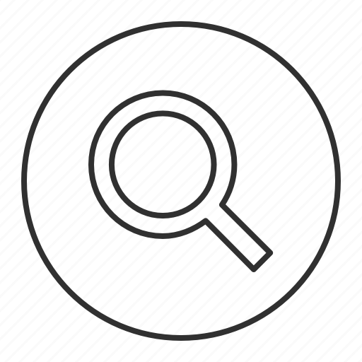 go, grey, round, search, transparent, view icon