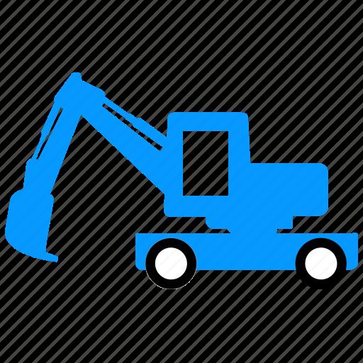 construction, dig, equipment, excavator, vehicle icon