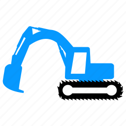 dig, equipment, excavator, transport, vehicle icon