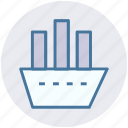 boat, cruise, luxury cruise, ship, shipment, travel, vessel icon