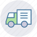 auto wagon, cargo, delivery wagon, lorry, shipping truck, vehicle, wagon icon