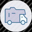 goods transport, poultry van, shipping, transport, transportation, travel, truck icon