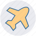 aeronautics, aircraft, airplane, aviation, fly, jet, plane icon
