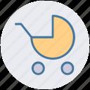baby, baby trolley, car, carriage, cart, cart trolley, trolley icon