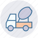 cement truck, cement vehicle, concrete, concrete carrier, concrete truck, construction vehicle, vehicle icon