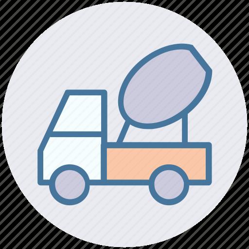 cement truck, cement vehicle, concrete, concrete carrier, concrete truck, construction vehicle, vehicle icon