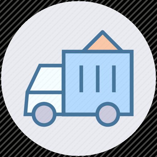 construction, sand, transport, transportation, truck, vehicle icon