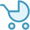 baby, baby carriage, baby trolley, car, carriage, cart trolley, trolley icon