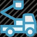 crane, road, transportation, travel, truck, vacation, vehicle icon