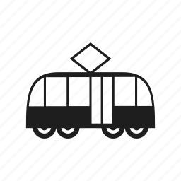 railway, tram, tramway, transport, vehicle icon