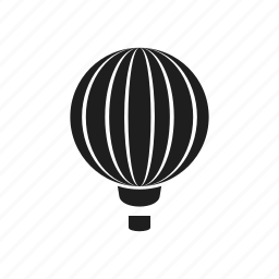 aeronautics, air, air ball, balloon, transport, vehicle icon