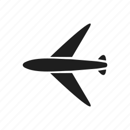 aeronautics, aeroplane, air, aircraft, plane, transport, vehicle icon