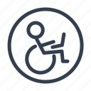 transport, wheelchair icon