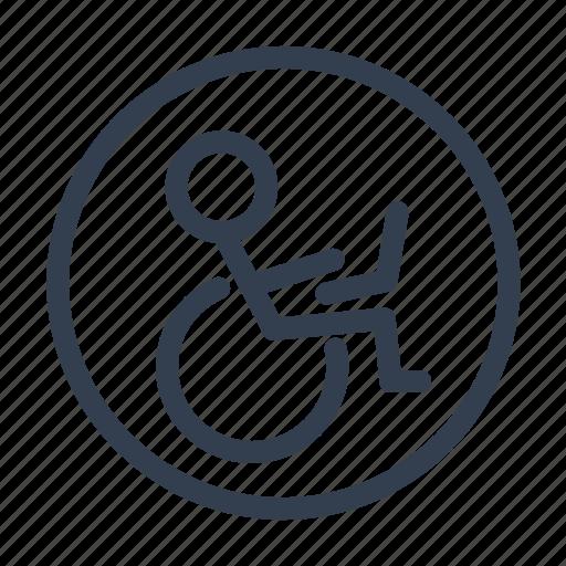 transport, wheelchair icon