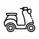 auto, bike, delivery, scooter, tourism, transport, travel icon