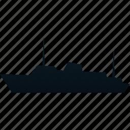 ship, traffic, transport, transportation icon