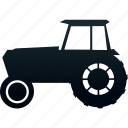 tractor, traffic, transport, transportation icon