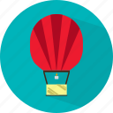 air, airplane, balloon, flight, plane, transport, travel icon
