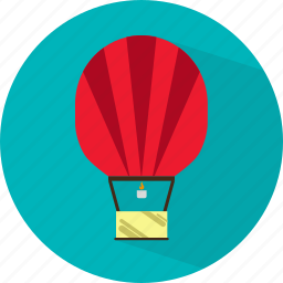 air, airplane, balloon, flight, plane, transport, travel icon