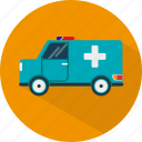 ambulance, emergency, hospital, medical, medicine, transport icon